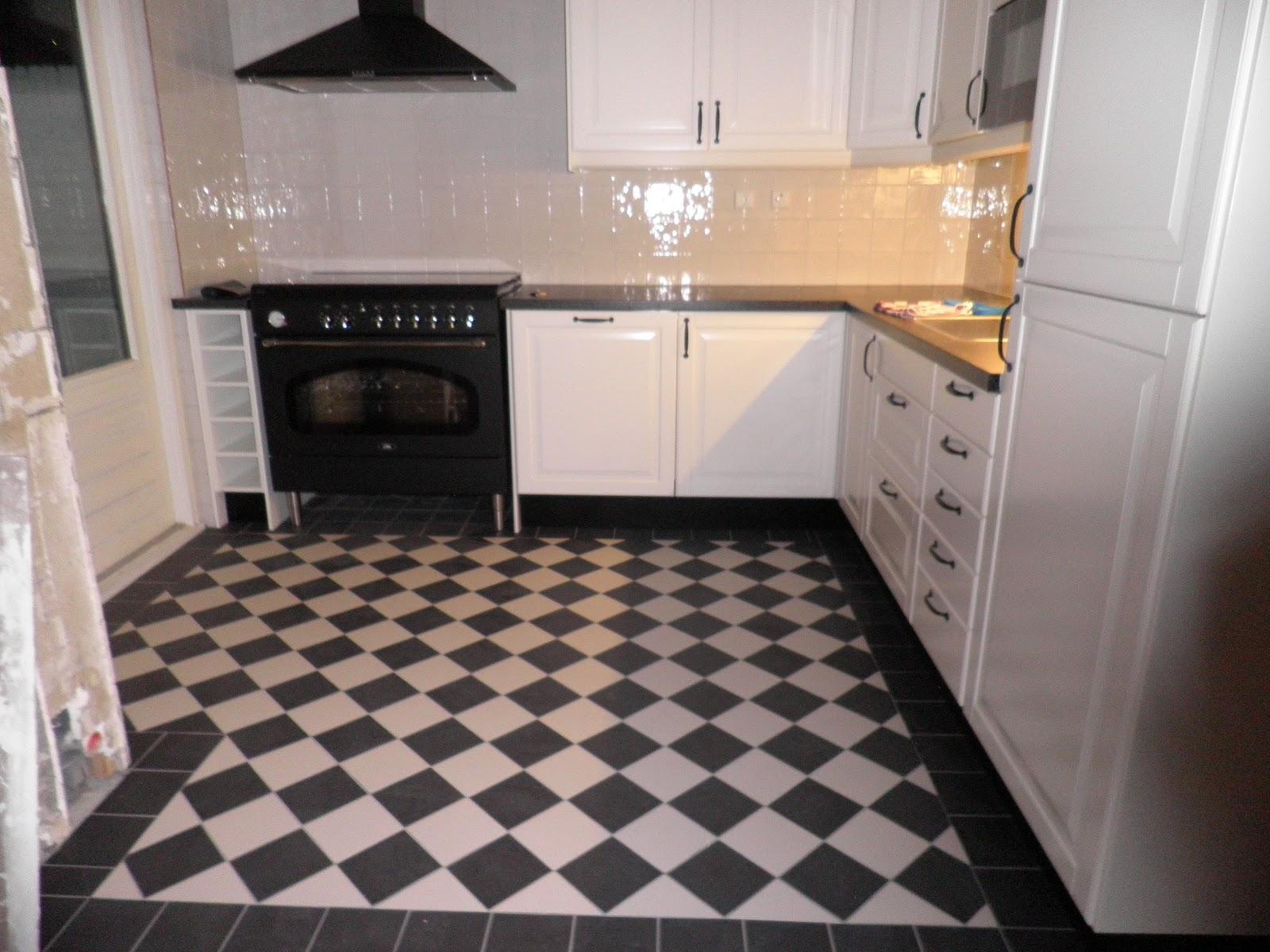 Zwart Witte Tegels : Keuken tegels zwart wit
