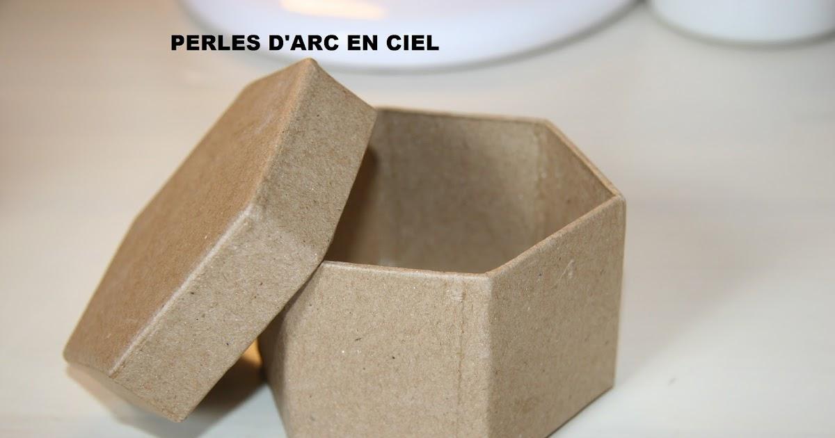 Perles d 39 arc en ciel tuto fimo boites en carton - Tuto boite en carton ...