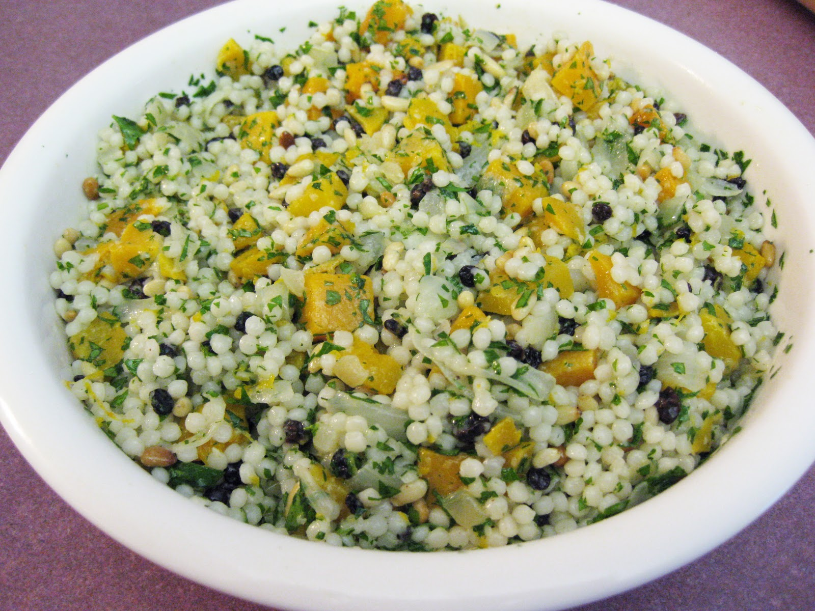 Bloatal Recall: Pearl Couscous with Butternut Squash