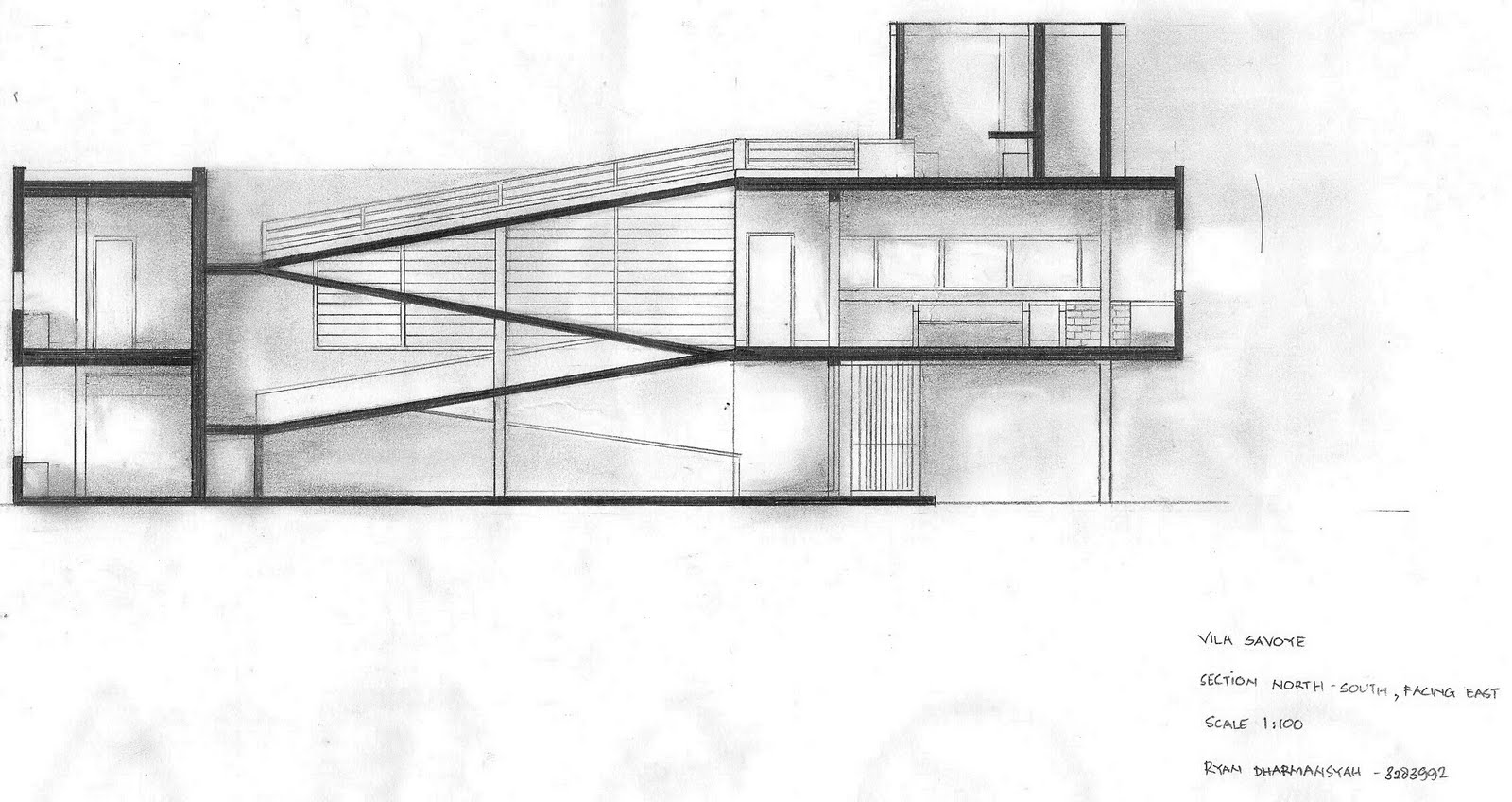 ryan 39 s blog le corbusier 39 s villa savoye parti and poche drawings. Black Bedroom Furniture Sets. Home Design Ideas
