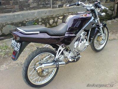 Modifikasi+Motor+Kawasaki+Ninja+2 Modifikasi Motor Ninja 150 R Ungu Metalic Krom 2011