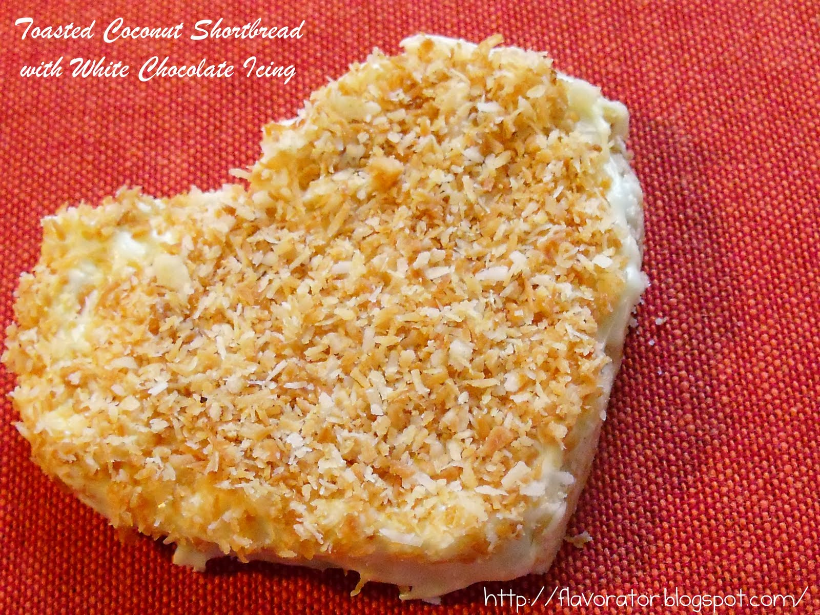 Toasted Coconut Shortbread with White Chocolate Icing + Cinnamon Candy ...