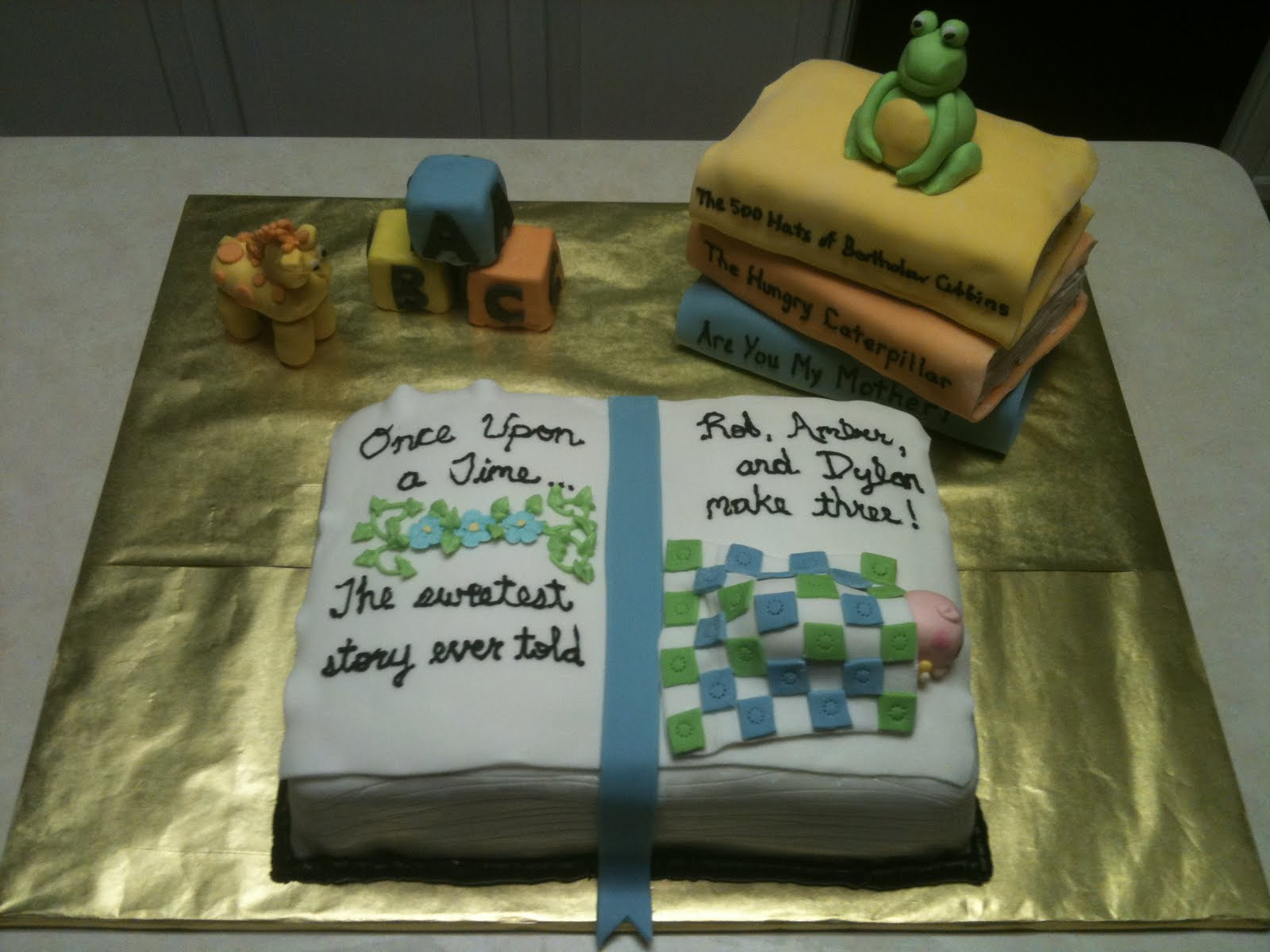 Cakes by Joanna Book Themed Baby Shower