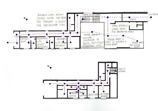 Architectural apprenticeship part b bamboo wall house - Bamboo house design and floor plan ...