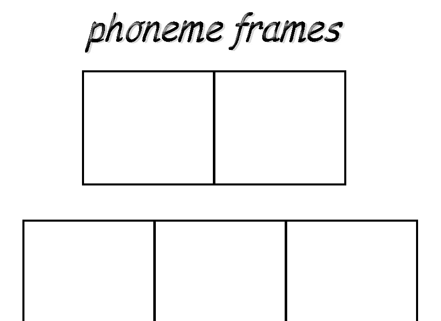 Debbie\'s Resource Cupboard: Phoneme frames