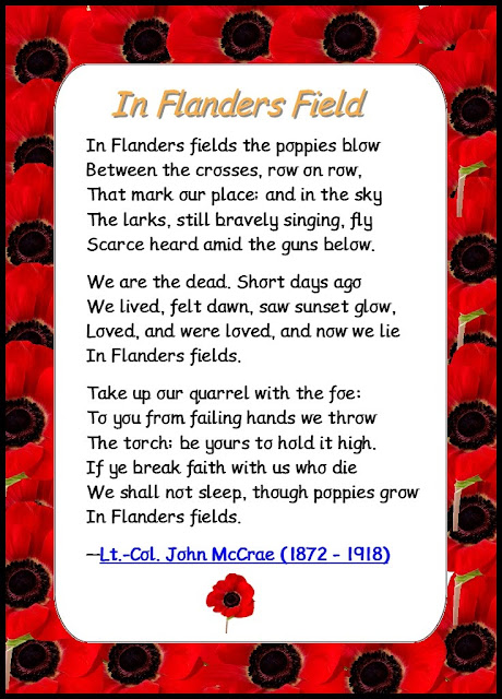 Image result for in flanders field poem