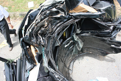 Crashed Toyota Vios 2