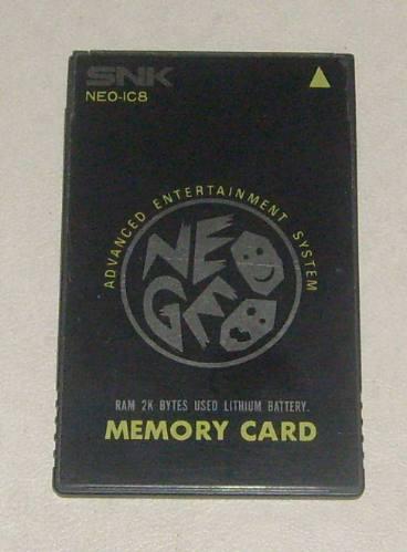 SNK Neo-Geo  Neo-geo_memorycard