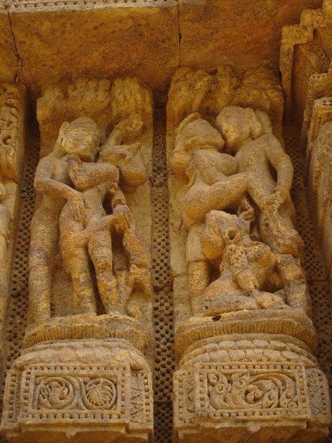 Ideal sex erotic art carving konark sun temple