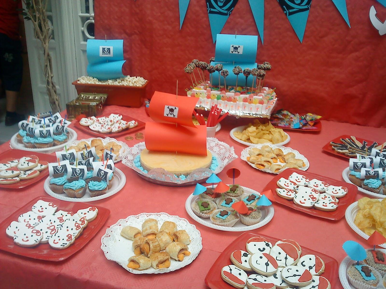 Chocolate y burbujas fiesta cumplea os piratas - Preparar fiesta cumpleanos ...