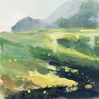Col des Aravis étude IId gouache paysage landscape