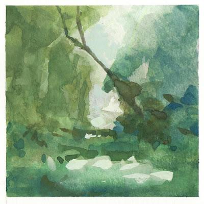 Early Fall, gouache, landscape, musique, paysage, paysage d'arbres, WetCanvas