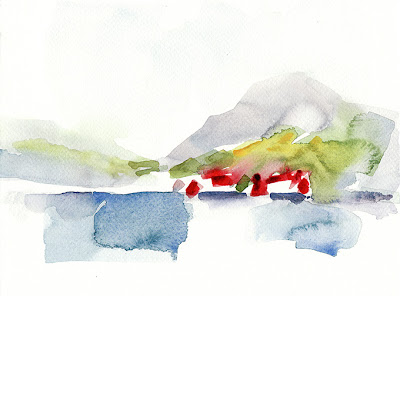 Annecy, aquarelle, lac d'Annecy, géolocalisation, landscape, multiple, on the spot, paysage, sur le motif, watercolor