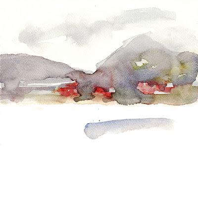 Annecy, aquarelle, géolocalisation, lac d'Annecy, landscape, multiple, on the spot, paysage, sur le motif, watercolor