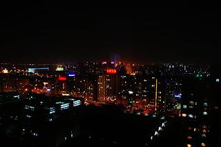 Vistas nocturnas de Beijing desde 22 ART Plaza