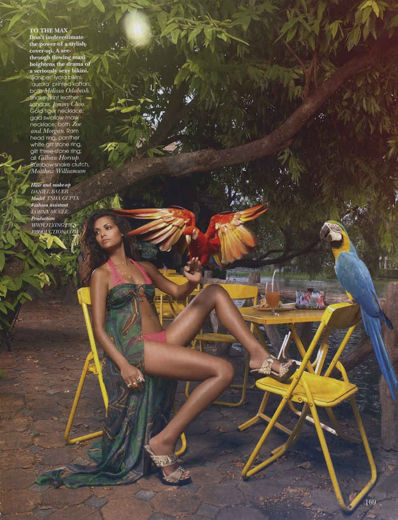 Esha Gupta pour Vogue India