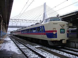 廃止される特急かもしか2号@青森駅