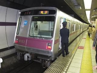東京メトロ半蔵門線 鷺沼行き1 8000系(平日6本運行)