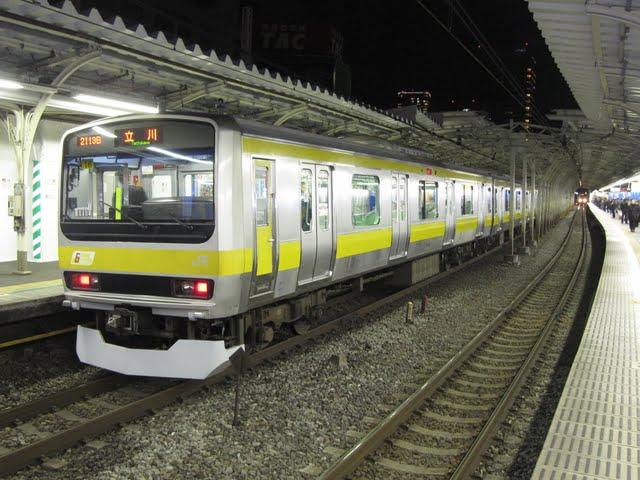 中央・総武緩行線 立川行き E231系(平日2本運行)