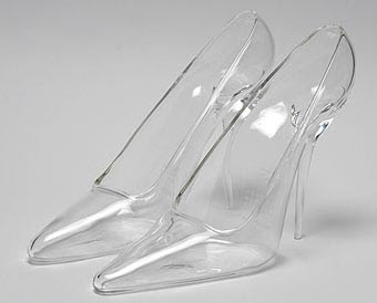 Ma Frangine: Maison Martin Margiela Glass Slippers :  heels pairs at or