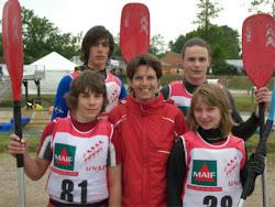 Avec  Brigitte Guibal, médaille d'argent en slalom au JO de Sydney