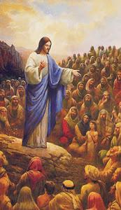 Jesus predicando en el monte