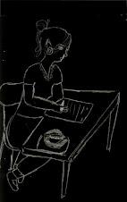 la pelucosa Francisca dibujándome
