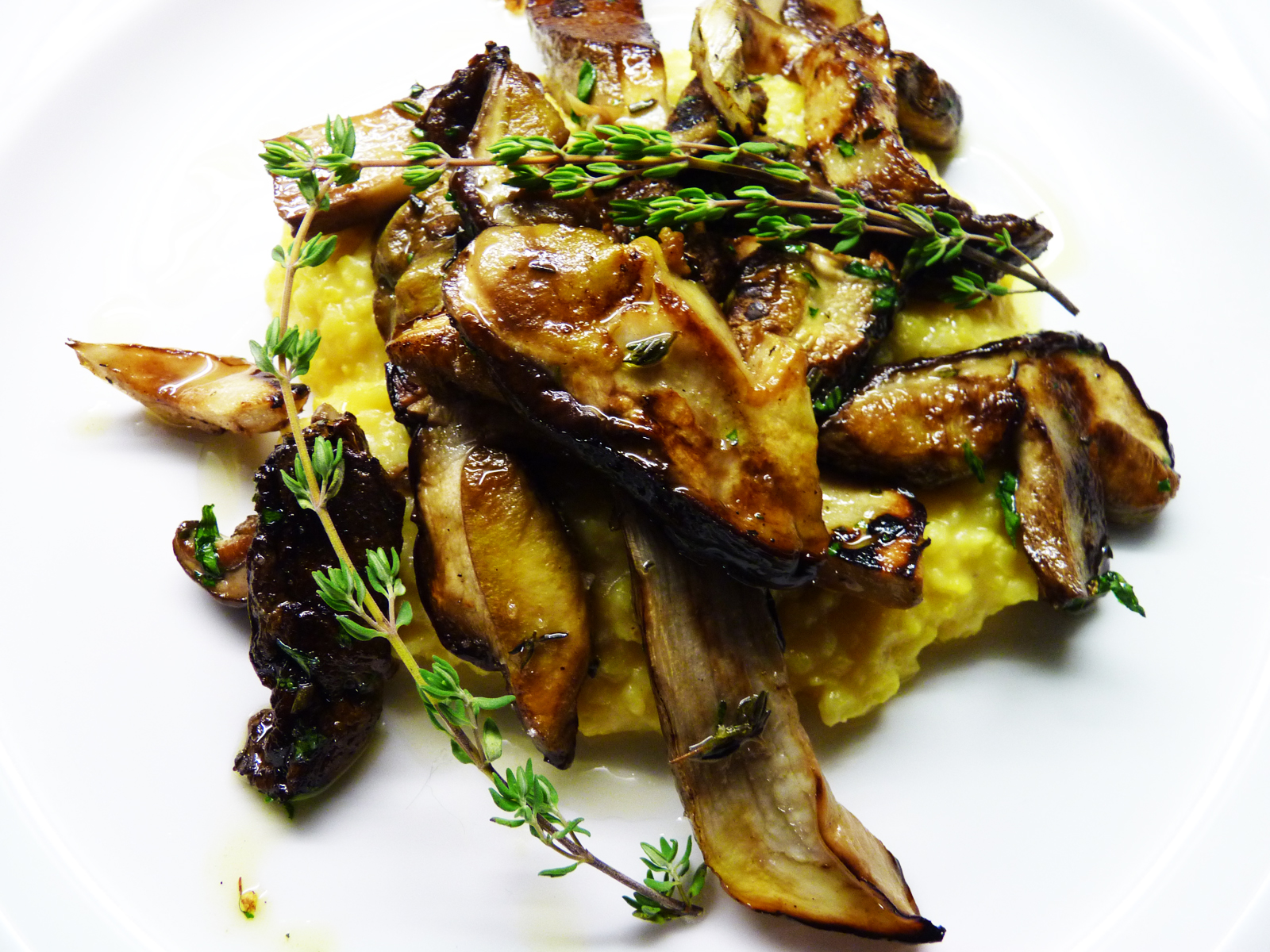 Grilled Porcini Mushrooms With Mint And Garlic Recipe ...