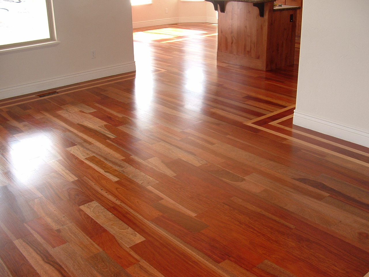 Wade homes custom hardwood flooring brazilian cherry with for Custom hardwood flooring