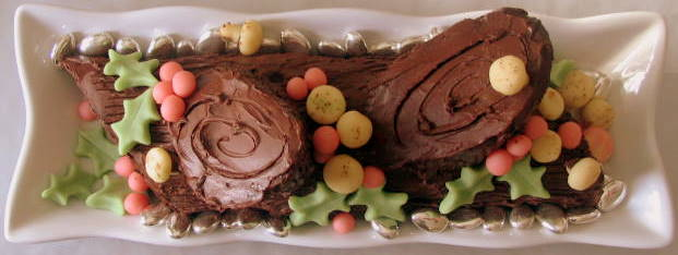 FOOD STYLING AND REAL LIFE: Buche de Noel