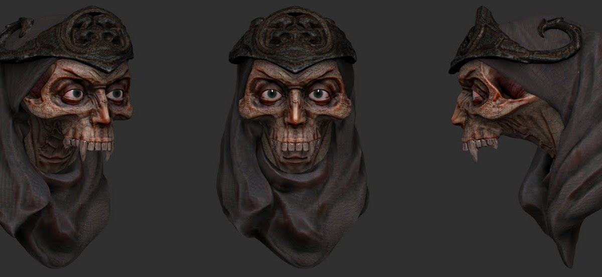 3D art: Lych Head _ Zbrush