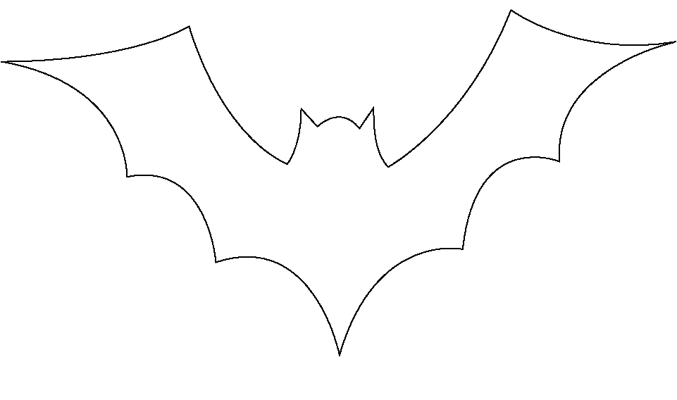 Unforgettable image within bat outline printable