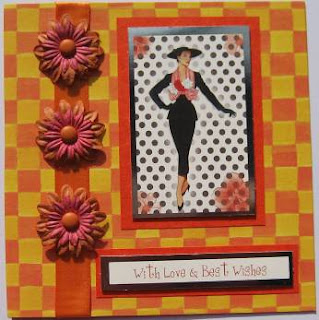 Hunkydory die cut toppers - elegant ladies - polka dot princess