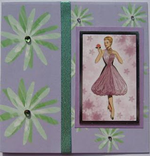 Hunkydory die cut toppers - elegant ladies - violet checks