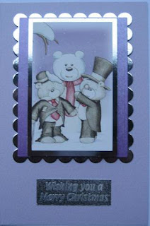 Christmas card with Hunkydory die cut toppers and card