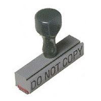 Do not copy without permission rubberstamp