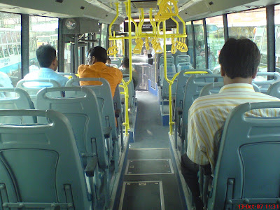 Inside photo of MTC Chennai Volvo Bus