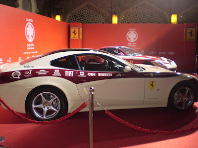 Ferrari on display at Taj, Mumbai