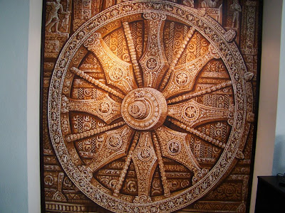 Stone wheel painting by Anandakumar