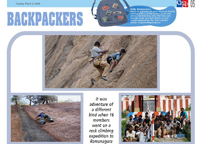 Ramanagaram Rock Climbing article in Ergo