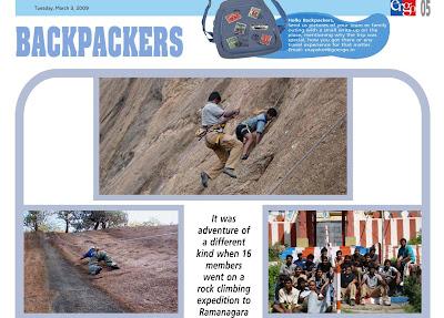 Ramanagaram Rock Climbing article in Ergo