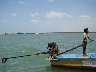 Boy on a boat- Alamparai backwaters