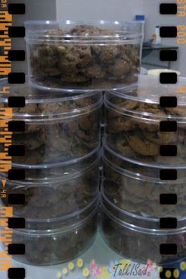 Chocolate Chips Cookies Untuk Tempahan
