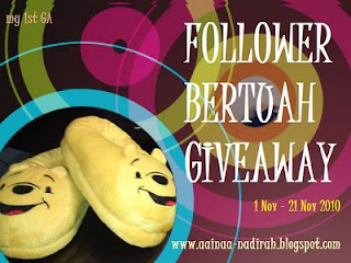 Follower Bertuah GiveAway