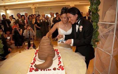bolo de casamento inspirado no Jabba The Hutt