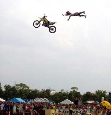 Accidente salto motocross