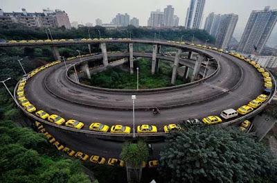 Desfile de taxis