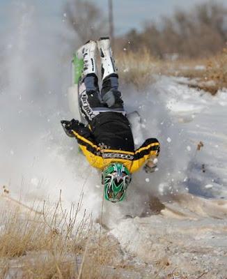 Caida de esquiador profesional