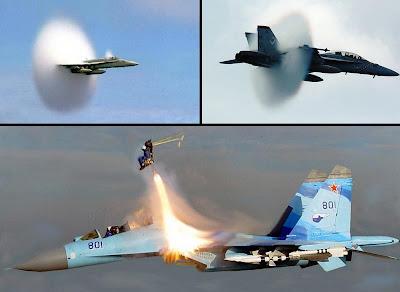 Piloto expulsado de SU-35UB a 2 veces la velocidad del sonido