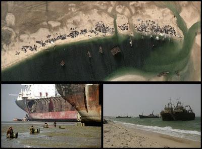 Cementerio de barcos en Mauritania